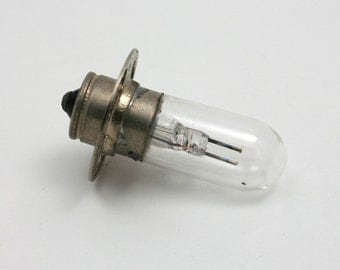 Vintage exciter lamp, film projector supply, sound reproducer, GE BRS 4V, B&H 17327, electronic supply, light bulb, small lightbulb