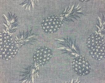 Japenese Cotton - Pineapple Chambray/Linen