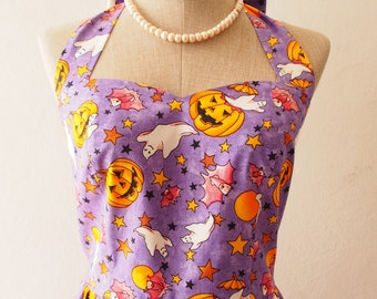 Women Halloween Dress, Halloween Party Dress, Purple -XS-XL,Custom