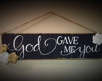Hand Painted Wood Sign
