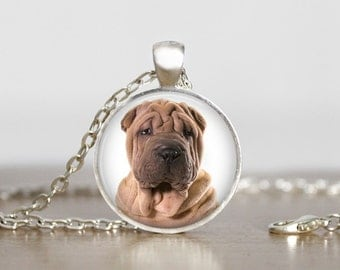 Shar Pei Pendant Necklace or Keychain