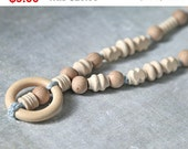Sale! Wooden ring nursing necklace.  Girls crochet necklace. Mammy and baby teething necklace.