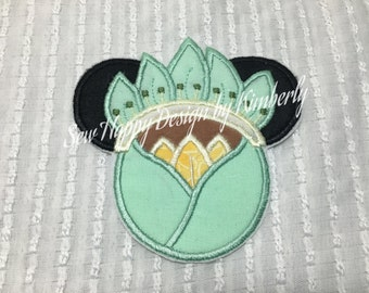 Princess Tiana  INSPIRED MOUSE Head Characters  Iron on Appliqué Patch