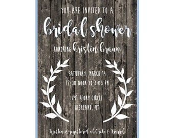 Customized Printable Invitations