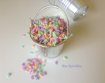 Sprinkles Pastel Stars Quins Jimmies for Cupcakes, Cookies, Cake Decorating (2 oz bag)