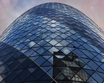The Gherkin, Urban Architecture, Glass, Reflections, London, Travel