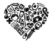SVG - Vocational Nurse Collage - LVN - Nurse svg - Medical - Lpn - Rn - ARNP- Digital Cut File - Nurse Tshirt - Nursing - Vocational Nurse