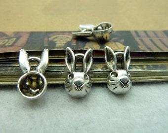 50pcs 5*8*14mm antique silver  rabbit charms pendant C5887