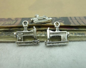 50pcs 14*15mm antique silver  sewing machine charms pendant C6230