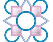applique quilt block, embroidery design, applique embroidery, digitized download, instant download, embroidery quilt block, applique file