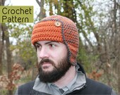 CROCHET PATTERN - Hunters Hat (0-3 months, 3-12 months, 1-3 years, 3-5 years, 6 years - Teenager, Adult) - Sell What You Make