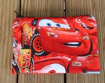Reusable ZIPPER Snack Bag, Lightning McQueen - Zipper Snack Bag / Boys Reusable Snack Bag / Reusable Bag / Going Green
