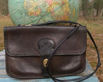 60s-70s BONNIE CASHIN for COACH Espresso Double Flap Bag
