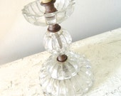 Vintage Glass Lamp Table Lamp