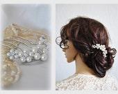 50% OFF Pearl Bridal Hair Comb Wedding Headpiece Bridal Floral Hair Piece Beaded Hairpiece Bun Hair Accessories Decorative Unique