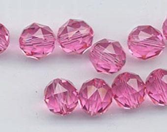 Twelve Swarovski crystals - art 5025 - 8 mm - rose
