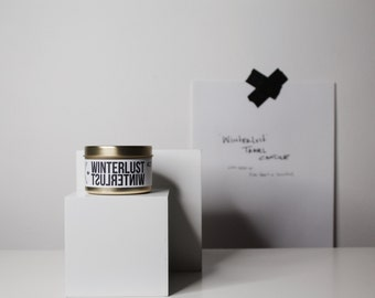 WINTERLUST traveler // Soy Candle Pine Tree & Snow Scented
