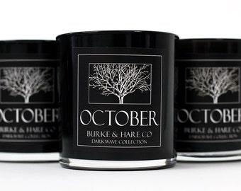 Darkwave Collection - Amber & Mahogany - October - Black Candle