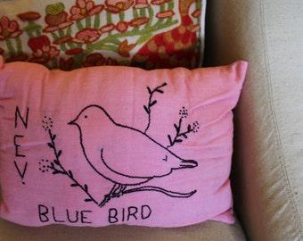 Primitive Nevada Blue Bird Pillow