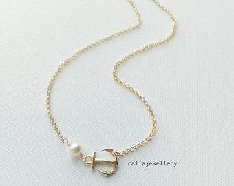 Anchor away necklace