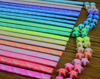 Glow in the Dark I Love You Origami Lucky Star Paper Strips - Choose Your Own Color
