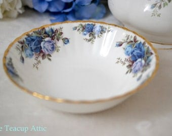 Royal Albert Moonlight Rose Coupe Cereal Bowl, English Bone China Bowl, Replacement China, ca. 1987