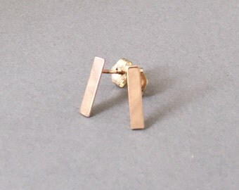 Bar Post Earrings Gold Fill, Rose Gold Fill, or Sterling Silver