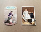 Victorian Trade Cards Cotton Thread Advertising Cards Willimantic Thread and O.N.T. Antique Advertising Cards