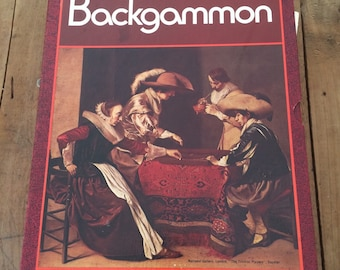 Vintage Bookshelf Game Gackgammon The Game of Kings 3M Bookshelf Classic Instructions Included