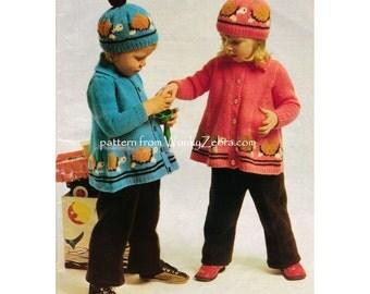 StitchCraft Turtle Jacket Vintage Knit knitting Pattern PDF B112 from WonkyZebra