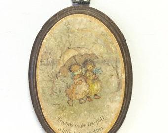 Vintage wood plaque, wood plaque, plaque, wall art, friendship plaque