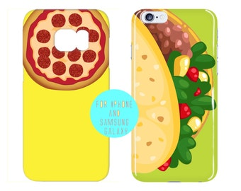 Mexican Food Galaxy s7 Edge Case Fast Food iPhone 6s Case Color Options iPhone 6 Plus Case Pizza iPhone 6s Case Taco Samsung Galaxy s6 Case