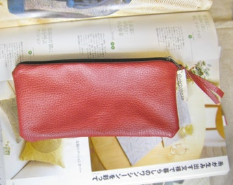 Zipper bag, phone bag, cosmetic purse, gadget pouch, pencil bag soft PU leather