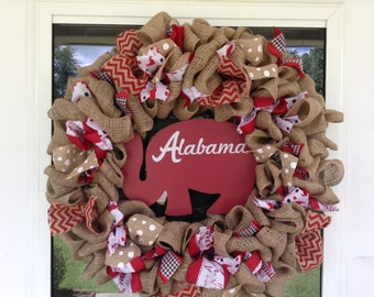 Burlap college wreath/college team burlap/welcome fall college sports wreath