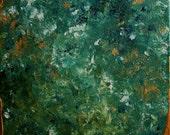 Abstract Painting, Original Painting, Textured Wall Art, Canvas Painting, Art Deco, Modern Art, Metallic Art,Green Painting,Contemporary Art