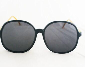 Sunglasses - Large Oversize 1980's Ornate Gold Intricate Frames