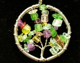 Stone tree of life pendants