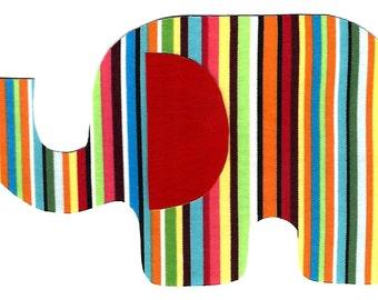Elephant iron on fabric applique DIY