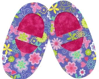 Ballet slippers iron on applique DIY