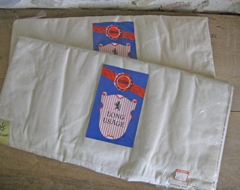 Unused French cotton sheets still in sealed packet with original labels 2 available