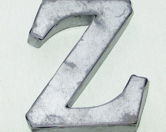 Large  Silver Metal Letter - Z - Personalize It