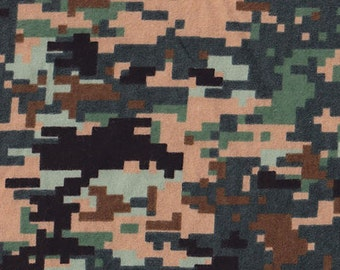 Snuggle Flannel Prints - Digital Camo - 1/2 yard
