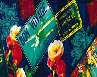 Snuggle Flannel Prints - Bon Voyage - Sold by the Yard