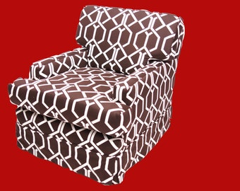 Brown and White Chair Geometric Pattern