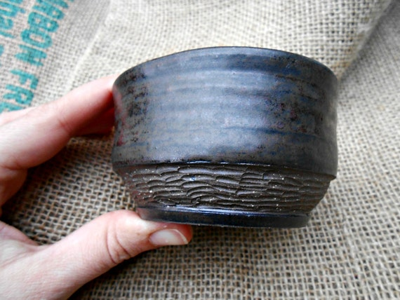 Color Changing Carved Ceramic Bowl