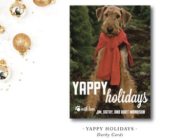 Yappy Holidays Holiday Cards | Printed and Printable by Darby Cards