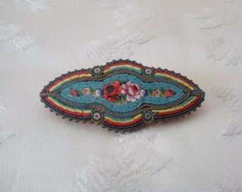 Vintage Italian Micro-Mosaic Pin