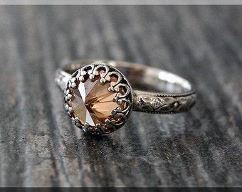 Topaz Ring, November Birthstone Ring, Ready to Ship, US Size 6.25, Sterling Silver gemstone Ring, Topaz Stacking Ring, Birthstone Ring