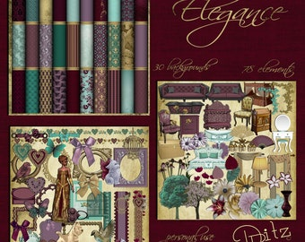 Elegance Digital Scrapbook Kit