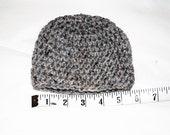 silver tweed crochet toddler/child hat/beanie